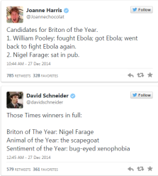farage briton of the years comments