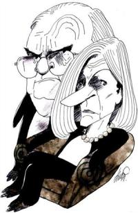 Chantal Mouffe and Ernesto Laclau. From www.lanacion.com.ar