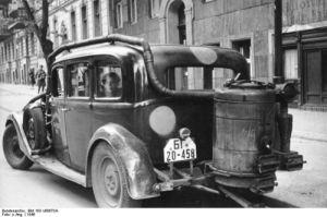 wood gas car