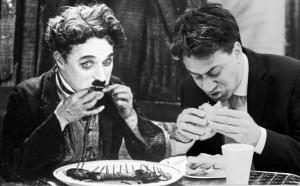 Ed Miliband and Charlie Chaplin