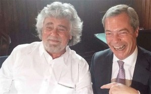 Beppe Grillo and Nigel Farage. telegraph.co.uk